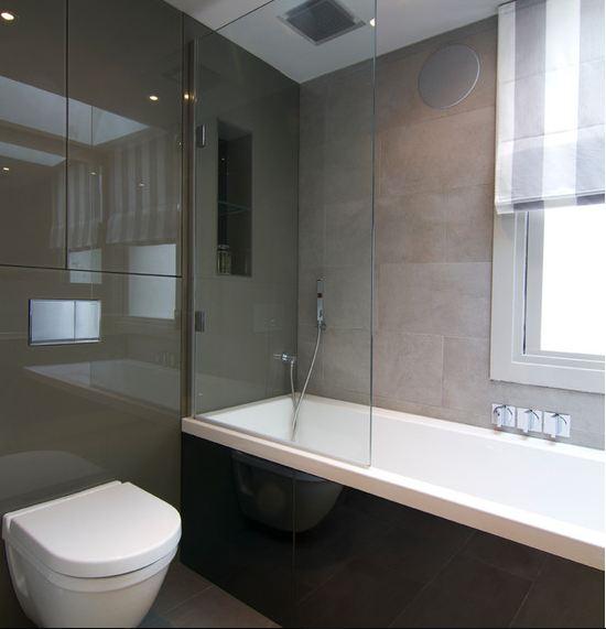 Как использовать стекло в ванной