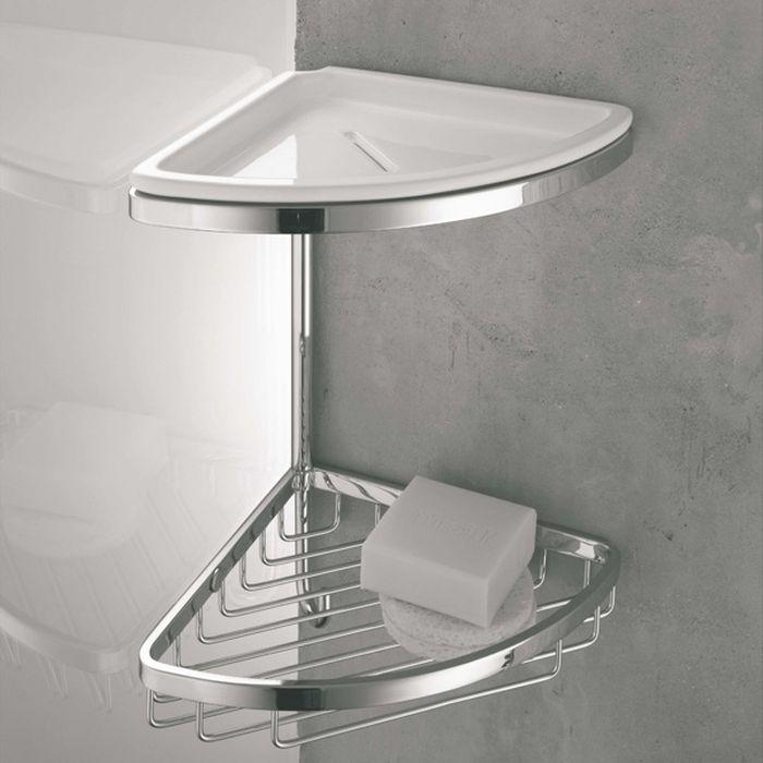 Как повесить угловую полку в ванной