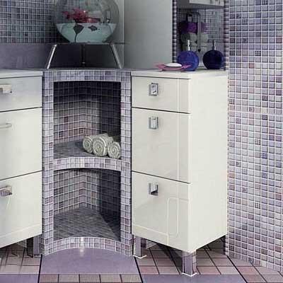 Комод из пластика, может стать отличным украшением практически любого интерьера ванной комнаты