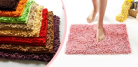 Коврик из микрофибры на пол в ванную