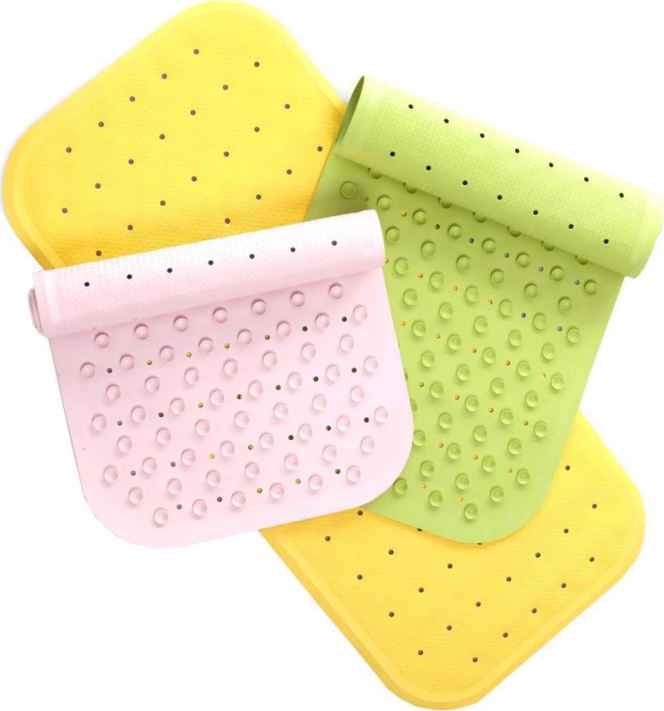Коврик противоскользящий яркого цвета для ванной комнаты