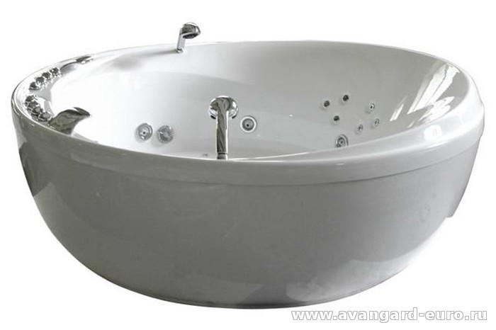 Круглая ванна с гидромассажем
