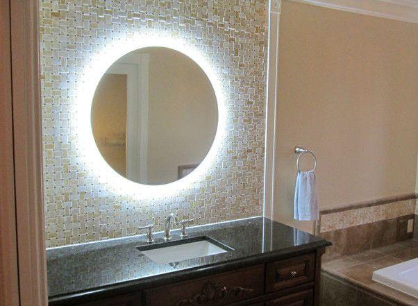 Круглое зеркало в комнате