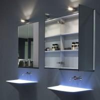 Шкаф в ванную комнату с зеркалом