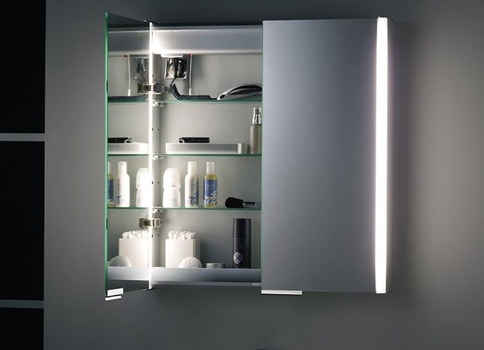 Навесной шкафчик с красивой подсветкой