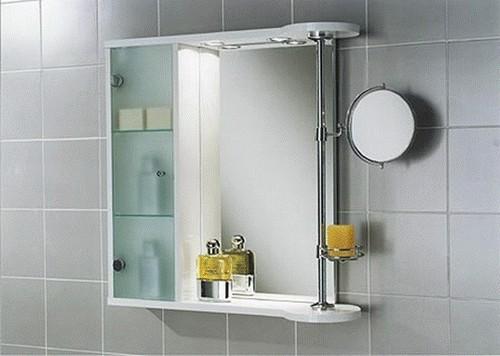 Не забывайте, что зеркало может быть совмещено со шкафчиком