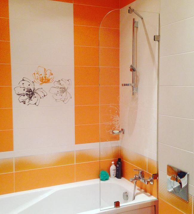 Оранжевые оттенки в комнате