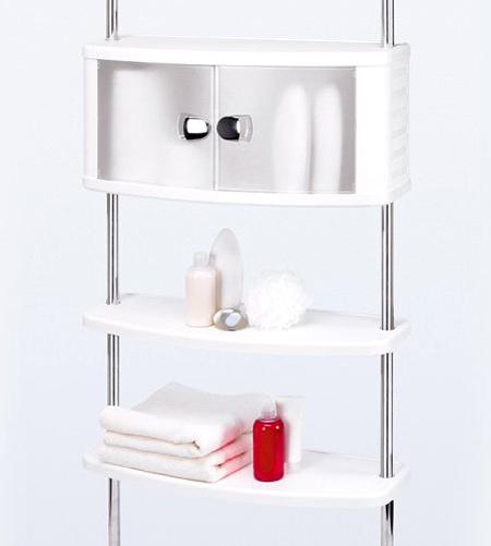 Пластиковая полка со шкафчиком для ванной