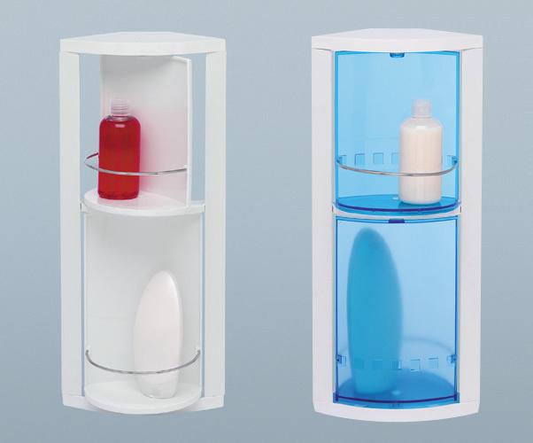 Пластиковые полки угловые в ванной комнате
