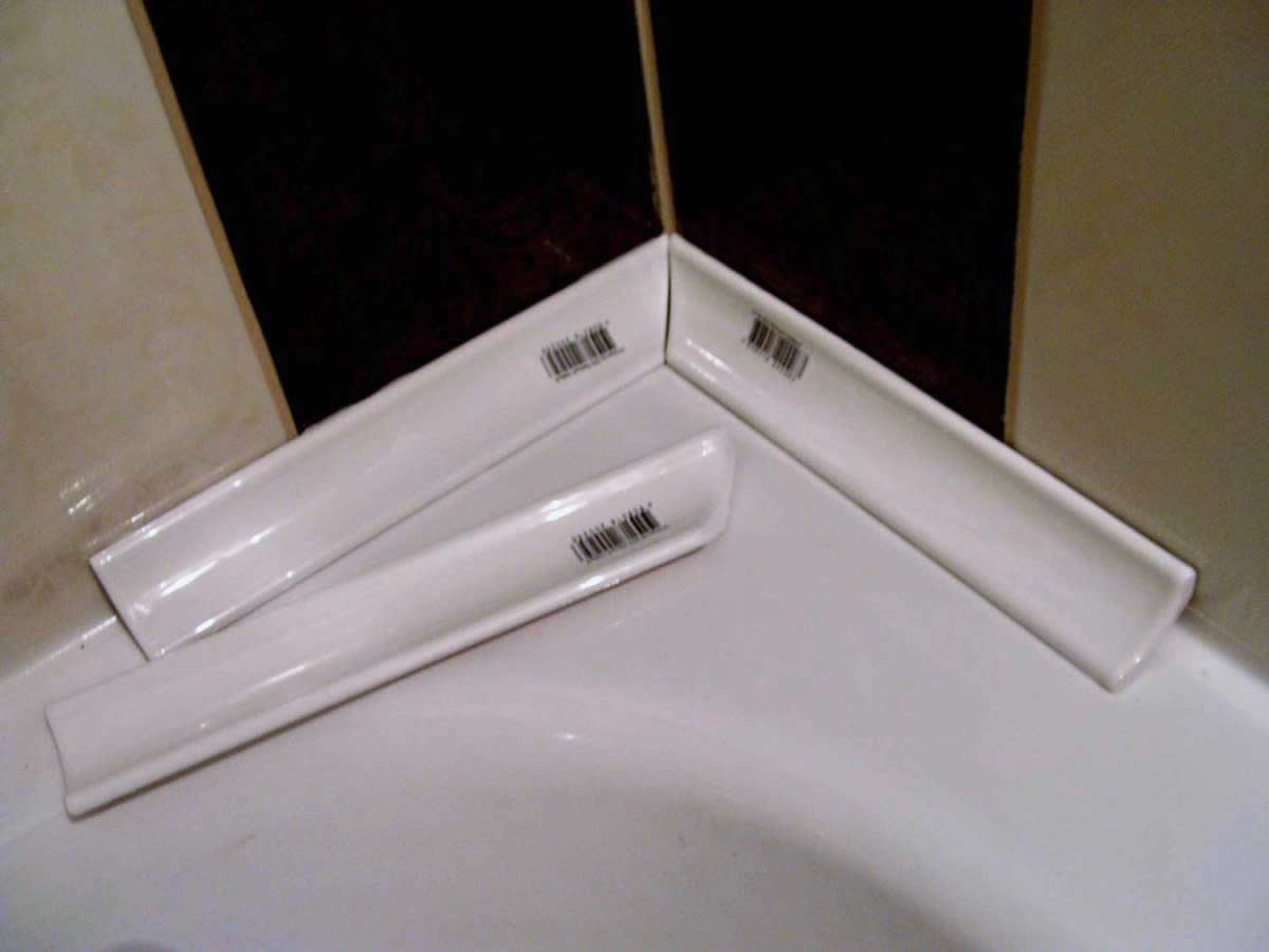 Керамический плинтус для ванной своими руками