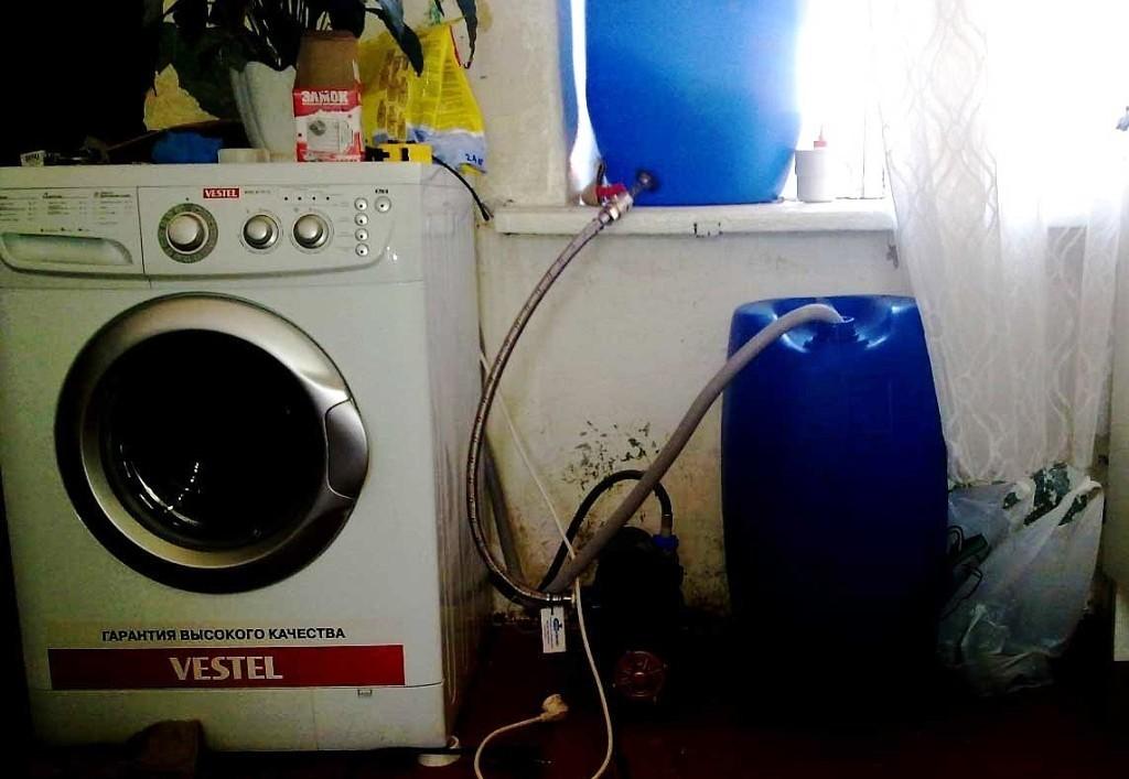 Стиральная машина в частном доме