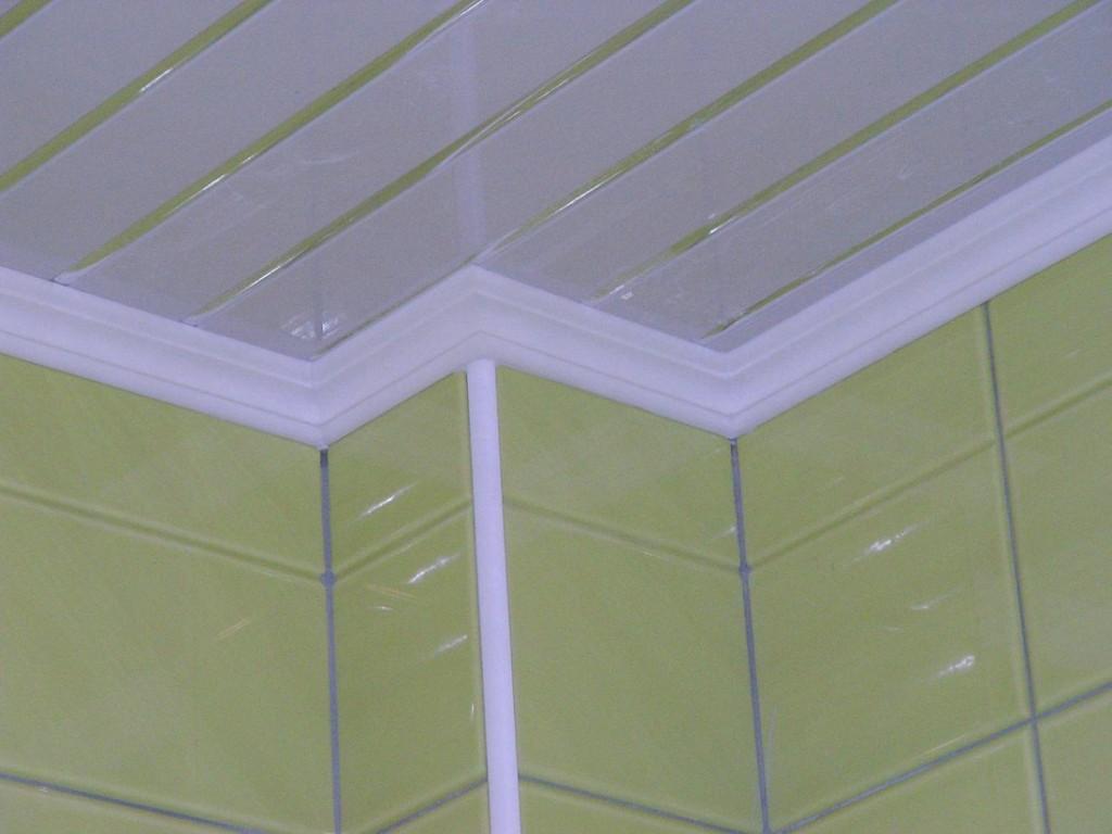 Потолочный плинтус в ванной комнате