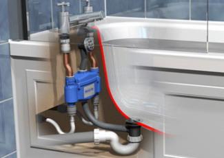 Схема подключения ванны к канализации