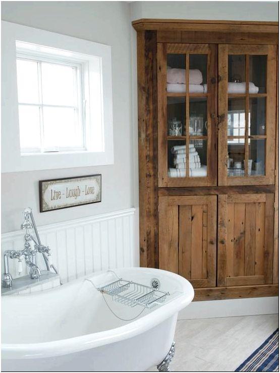 Шкаф в дизайне ванной