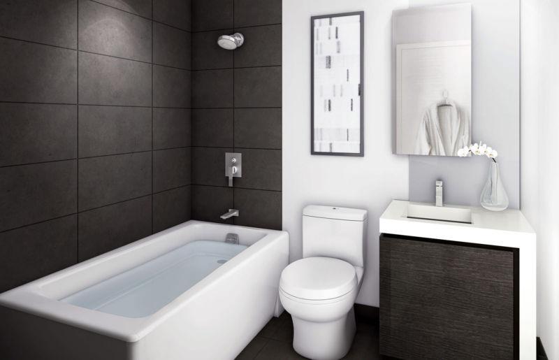Сочетание черной и белой плитки для стен
