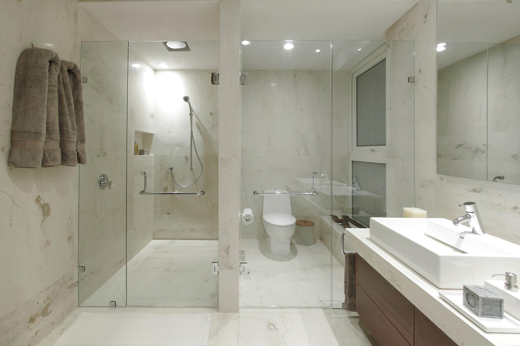 Стеклянные двери в ванну и душ