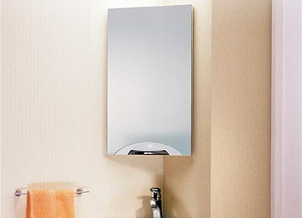 Угловой подвесной зеркало шкаф в ванную комнату