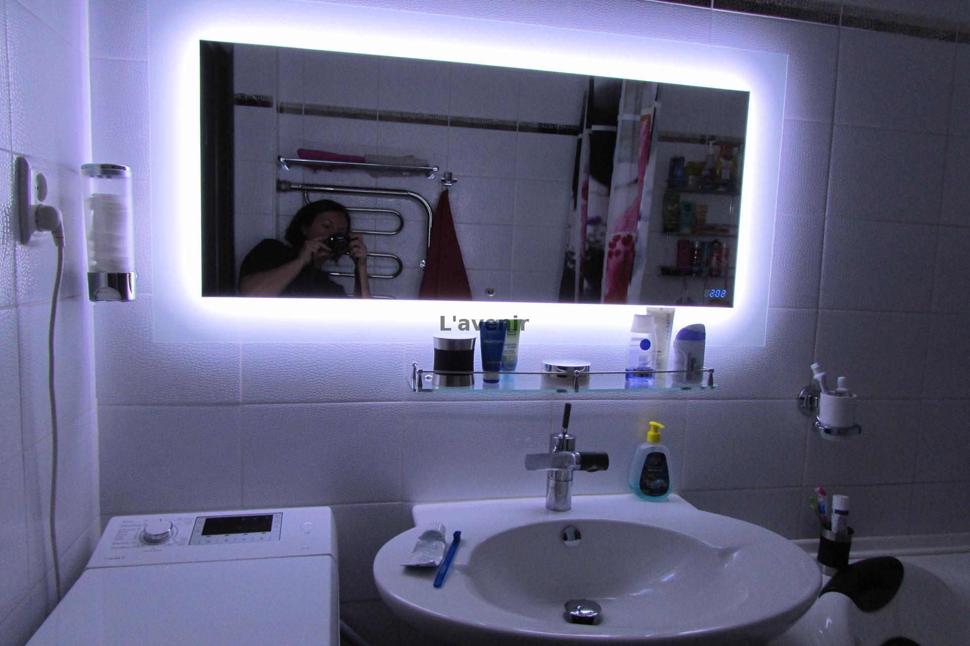 Ванное зеркало со светодиодной подсветкой и обогревом