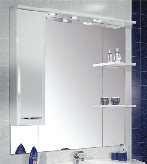 Зеркало со шкафчиком и подсветкой