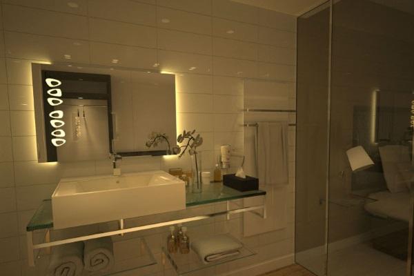 Зеркало прямоугольной формы с подсветкой и подогревом