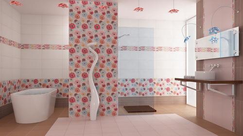 Декор моющимися обоями в ванной