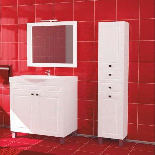Пенал для ванной комнаты напольный