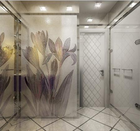 Перегородка в дизайне ванной