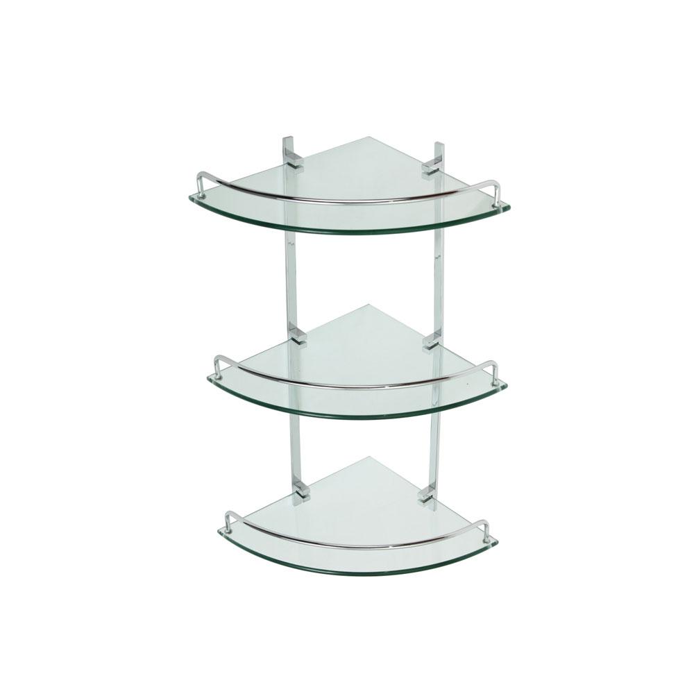 полочки из стекла и металла