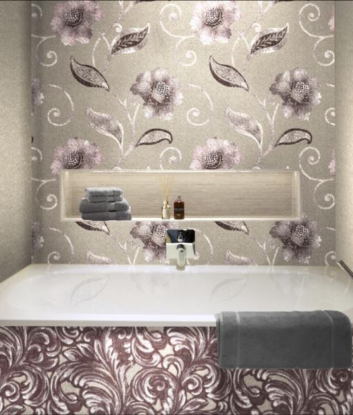Способ отделки ванной обоями