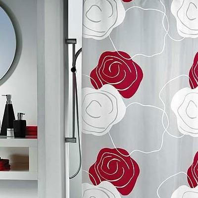 Тканевая штора с цветочным рисунком