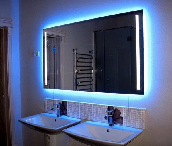 Виды зеркал с подсветкой для ванной