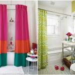 Тканевая штора в ванную