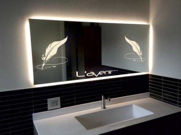 зеркала с внутренней подсветкой для ванной комнаты