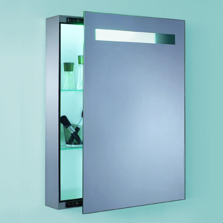 Зеркало шкаф синего цвета