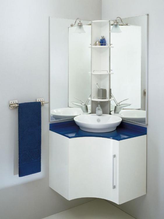 Бело синяя угловая мебель