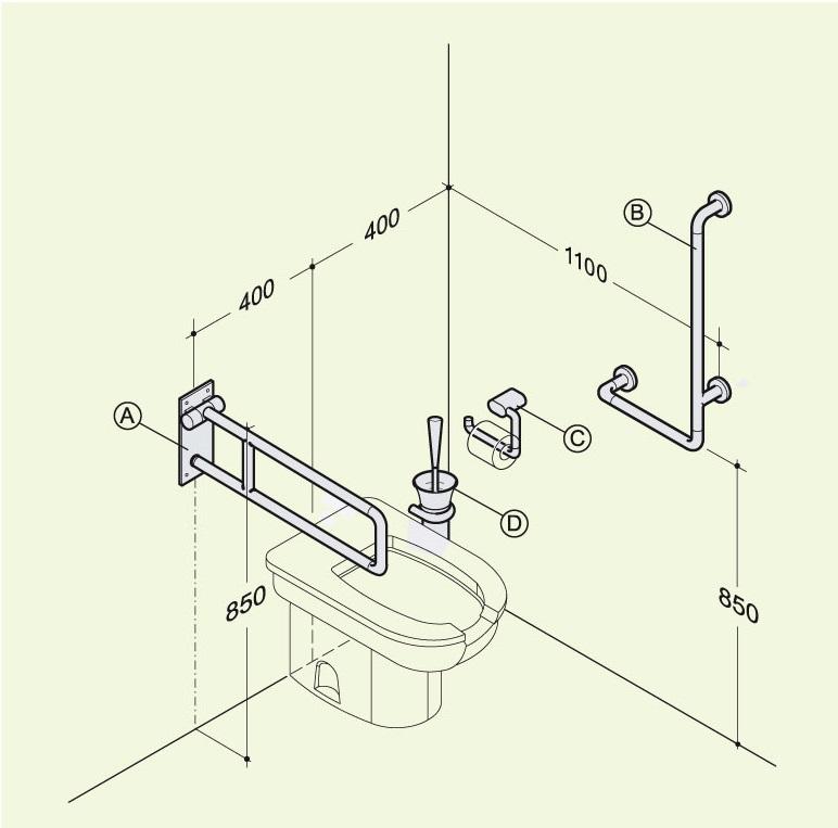 Правильная установка поручней возле унитаза