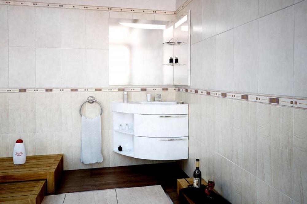 Дизайн комнаты с уголовой раковиной