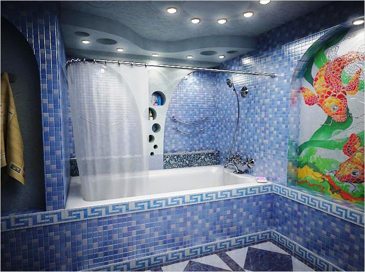 Из гипсокартона потолок в ванной