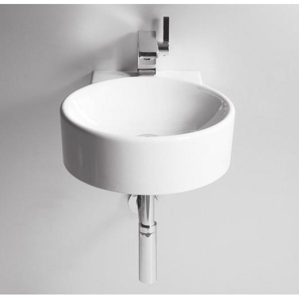 Круглая раковина в ванной