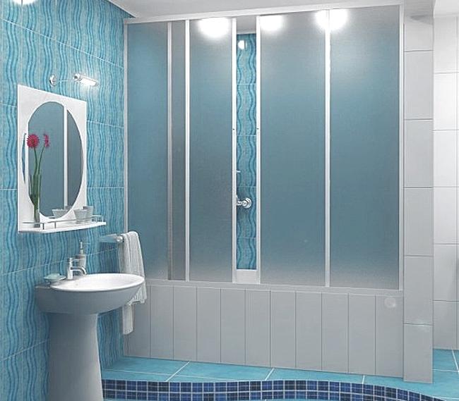 Матовая шторка для ванной