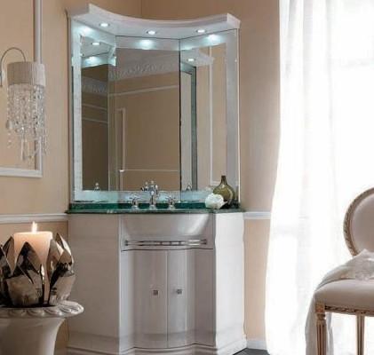 Мебельный угловой гарнитур в ванную