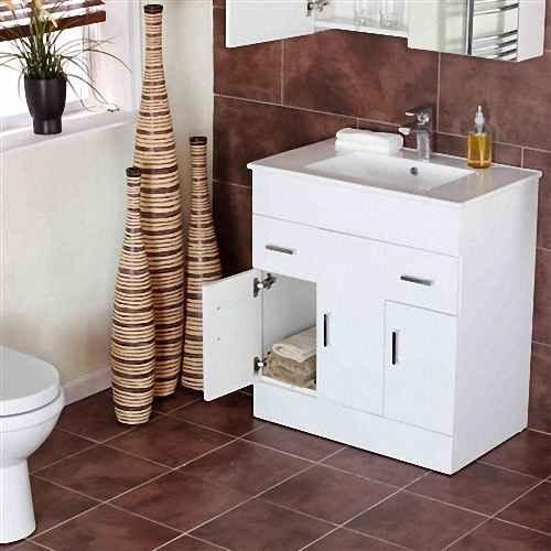 Напольная тумба с раковиной в ванную