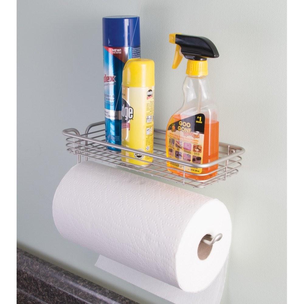 Настенный держатель для бумажных полотенец с полкой