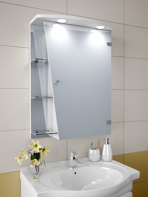 Навесной шкаф для ванной с зеркалом