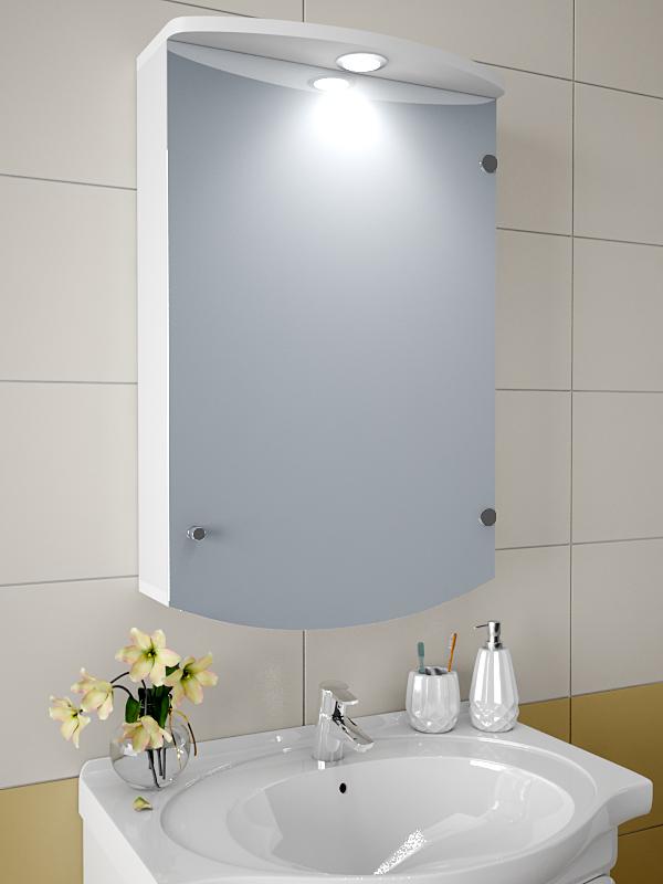 Навесной шкаф для ванной зеркальный