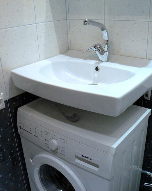 Примеры установки стиральной машины под раковину