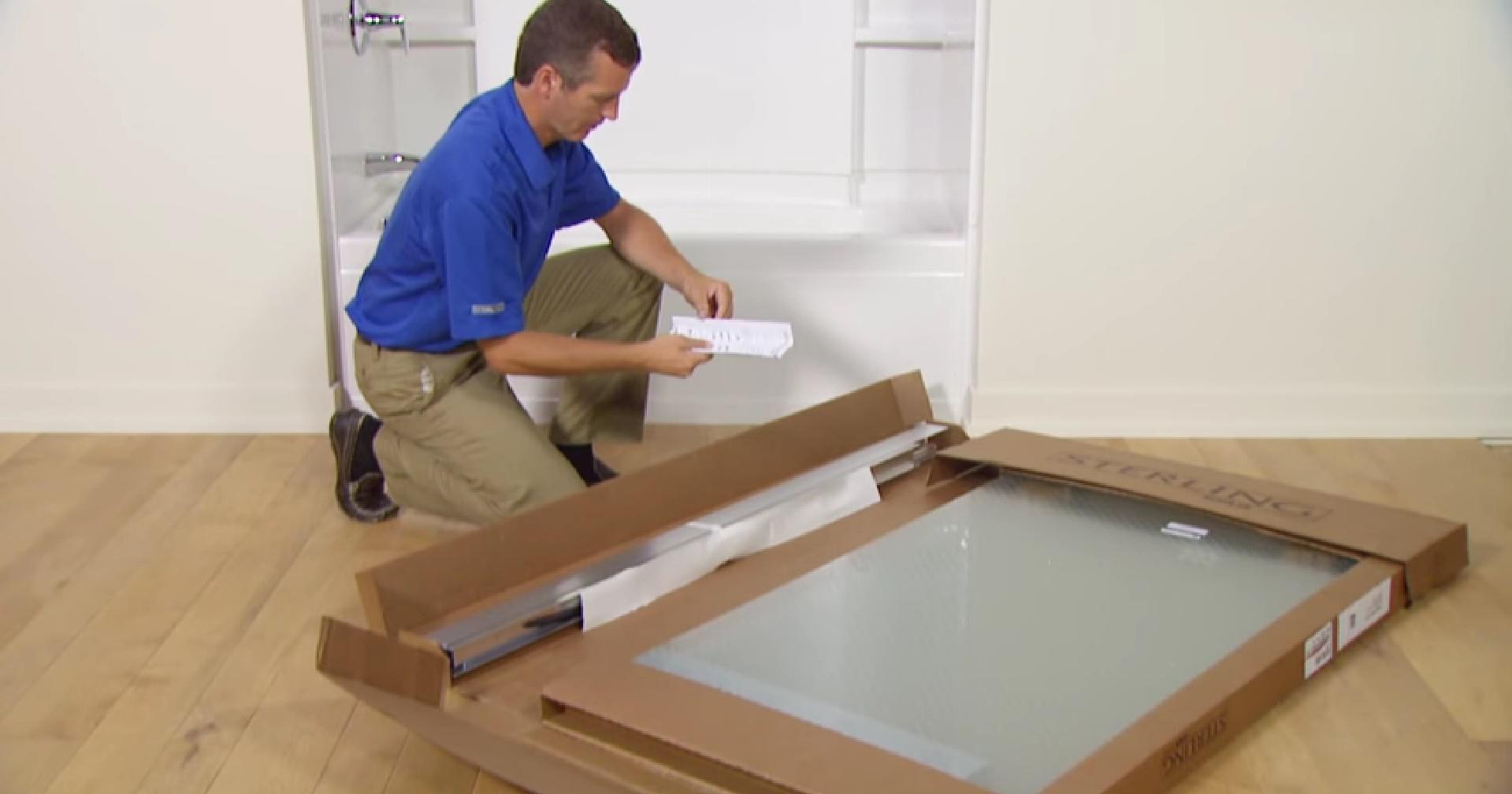 Распаковка шторок для ванной