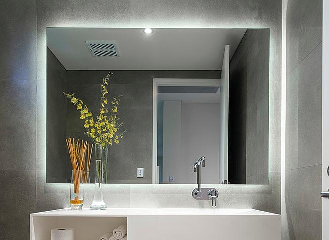 Размеры зеркал с подсветкой для ванной комнаты