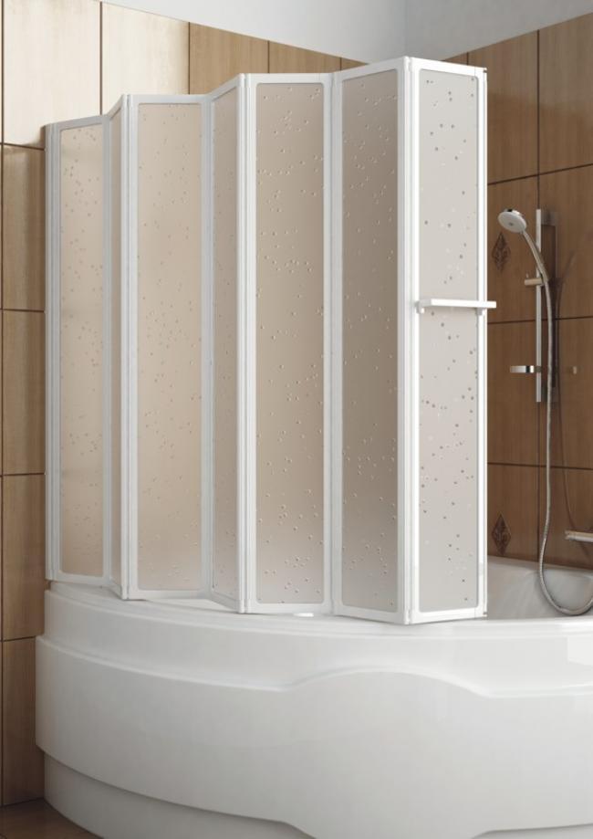 Складная шторка в ванную