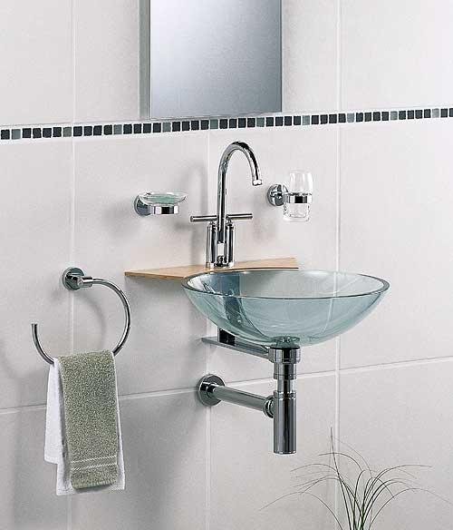 Стеклянные раковины, которые устанавливаются в ванные комнаты
